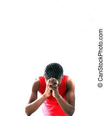 homem, orando