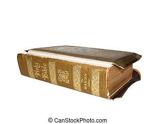 Bible - Old bible with ornate cover and binding