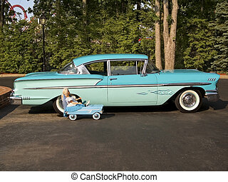 Big Car Little Car - A vintage 1958 Chevy Bel Air and a...