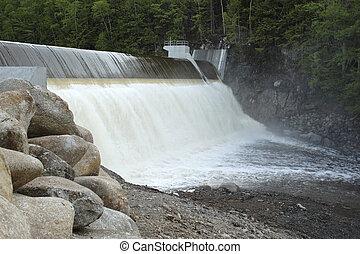Dam - Avon River Dam on a spring day. (Nova Scotia)
