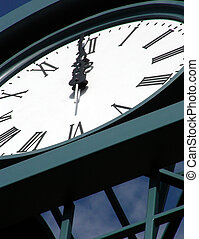 High Noon - Brand new clock tower erected at the top of high...