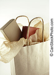 Shopping Bag - Shopping bag with two boxes and tissue paper.