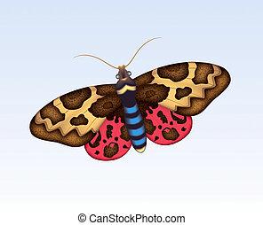 Butterfly 7 - Digital illustration. Gradient mesh....