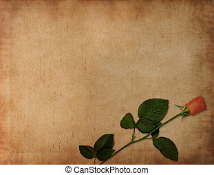 Ancient love letter background - Old ancient parchment with...