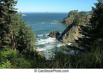 Oregon coast north of Brookings