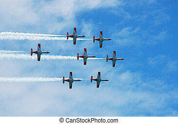 Air show - The Casa C-101 Aviojet is a spanish jet powered...