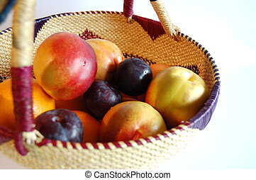 Fruity basket - This is an image of fruits and basket