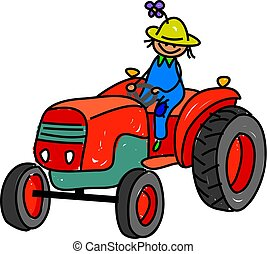 farmer kid - i want to be a farmer when i grow up - toddler...
