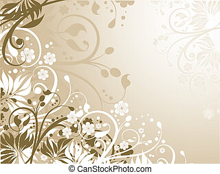Floral chaos - Abstract floral background