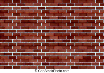 Red Brick Wall - Computer Render - Red Brick Wall