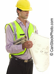Foreman with Site Plans - Foreman reading some architectural...