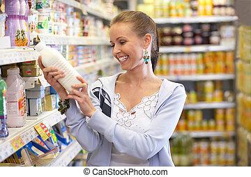 milk drink - brunette beauty while shopping all brandmarks...
