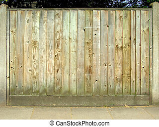 Wooden fence - Empty wooden fence