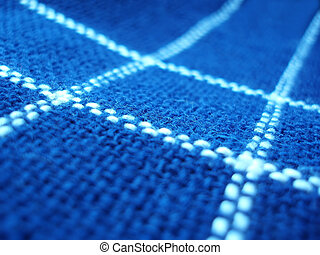 Blue fabric with white lines as a background