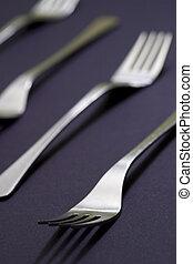Forks05 - forks isolated on blue