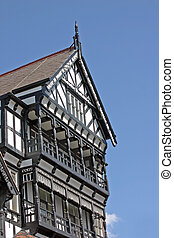 Old Black and White Building in Chester England