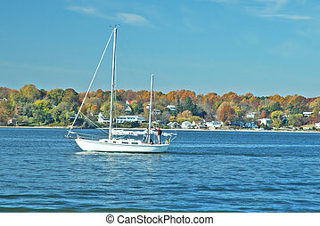 Autumn Cruise - Late October sail on the Chesapeake Bay near...