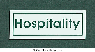 Hospitality Sign - room sign