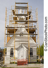 repair church 2 - An old church under repair and...