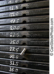 Weights 2 - Weights in a gym.