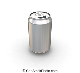 Blank drinks can - 3D render of a blank metallic drinks can