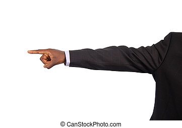 Your Fired - This is an image of a businessman pointing away...