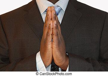 negócio, oração