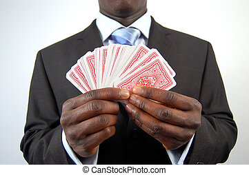 The Business Gamble - This is an image of a business man...