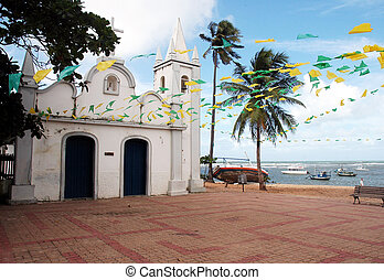 Church - A church in the Praia do Forte - Bahia - Brazil