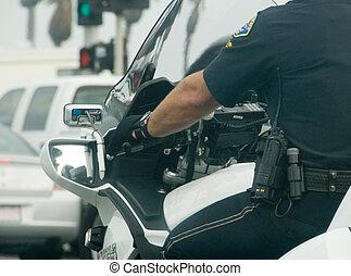 motocicleta, policía