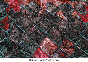 Grunge roof - Wooden roof slats grunged