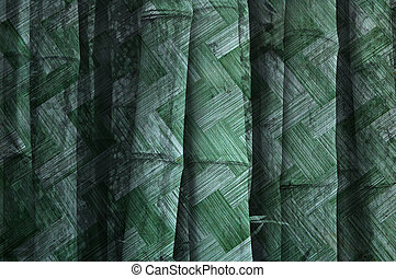 Green grunge - Green background design from bamboo