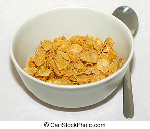 Bowl o cornflakes - Breakfast bowl with cereals