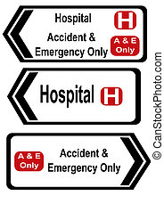 accident and emergency signs