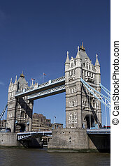 london tower bridge on the river thames one of Londons most...