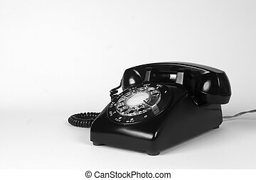 1960s telephone - Vintage 1960s telephone in B&W with...