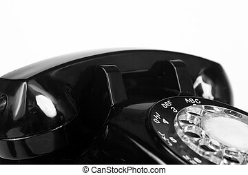 1960s telephone - Top of vintage 1960s black telephone in BW...