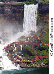 Bridal Vail Falls Off to the side of the American Falls,...