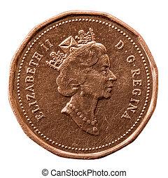 Elizabeth II - Queen\\\'s Portrait on Canadian Coin;...