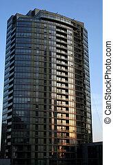 Condo 3 - A towering condo shot at sunset.