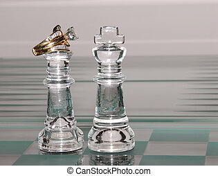 King and Queen And Diamonds - King and Queen chess pieces....