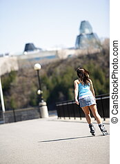 girl in rollerblade