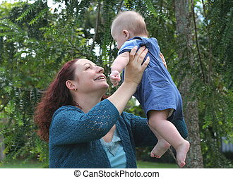 Mothers Joy - Mother with baby boy