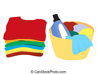 Laundry - Clean and soiled clothes