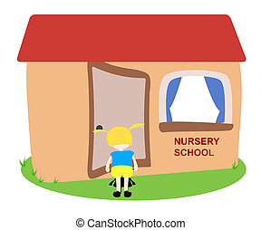 Nursery School - Child entering the nursery