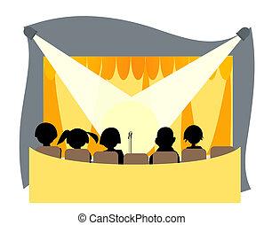 Center Stage Illustration