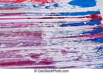 Splattered Smeered and Printed - Splatterd, printed, dripped...