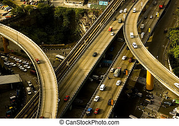 Philippine roads - Intersection in the historic EDSA in the...