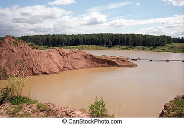 Sand-pit - Old sand-pit. Moscow suburbs