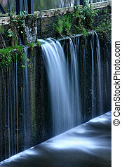 Waterfall - Its a small dam by the river amper in germany,...